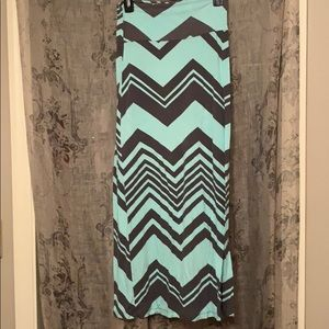 Dresses & Skirts - Tight skirt, mint and grey chevron patterned